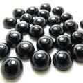 天然石ルース(裸石)・ブラックオニキス/カボション(ラウンド)【8mm】(10個)
