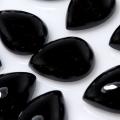 ブラックオニキス 天然石ルース カボションカット(ペア)【10×7mm】(5個)