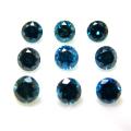 天然石ルース(裸石)・ブルーダイヤモンド【Si2/I1】(照射)/ラウンド【3mm】ダイヤモンドカット(1個)