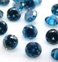 天然石ルース(裸石)・ブルーダイヤモンド【Si】(照射)/ラウンド【2mm】ダイヤモンドカット(1個)