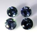 ブルーグリーンサファイア 天然石ルース (非加熱)スリランカ・セイロン/ラウンド【4mm】ダイヤモンドカット(1個)