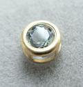 ゴールドフィルド・チャーム/天然石ブルートパーズ<11月誕生石>(ラウンド4mm)ベゼル「14kgf」(1個)