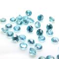 天然石ルース(裸石)・ブルージルコン(カンボジア・加熱処理)/ラウンド【2mm】ダイヤモンドカット(10個)