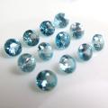 天然石ルース(裸石)・ブルージルコン(コロンビア産・加熱)/ラウンド【4mm】ダイヤモンドカット(2個)
