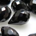 ブラックスピネル ビーズ ブリオレット 天然石ルース 【ティアドロップカット 5×3mm 横穴 しずく】 (5個)