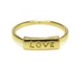 ラブ LOVE 指輪 モチーフリング【A】(真鍮ブラス・ゴールドカラー)(1個)