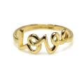 LOVE ラブ モチーフリング 指輪 【B】(真鍮ブラス・ゴールドカラー)(1個)