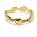 モチーフリング 指輪(ウェーブ・波/B)(真鍮ブラス・ゴールドカラー)(1個)