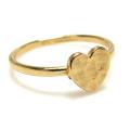 ハート 指輪 モチーフリング ハンマード(真鍮ブラス・ゴールドカラー)(1個)