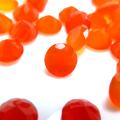 天然石ルース(裸石)・カーネリアン/ラウンド【5mm】ファセットカット(10個)