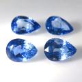 セイロン ブルーサファイア ルース 天然石(スリランカ産・加熱)ペアシェイプ【6×4mm】ファセットカット(1個)