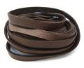 ディアスキンレース(鹿革レース/平紐)チョコレート9.5mm×180センチ(1本)