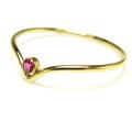 ルビー指輪 シェブロンリング 天然石 14kgf ベゼル ラウンド 2mm ゴールドフィルド(1個)