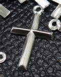 十字架チャーム クロス ペンダント 【D】シルバー SV925 18mm×10mm (3個)