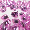 キュービックジルコニアcz【AAA】・ルース(裸石)・/ハート(ピンク)【4×4mm】ファセットカット(25個)