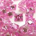 キュービックジルコニアcz【AAA】・ルース(裸石)【ピンク】/スクエア【4×4mm】ファセットカット(25個)
