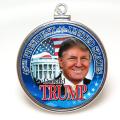 ドナルド・トランプ大統領 コインペンダント・DONALD TRUMP アメリカ ハーフダラー(50セント)バチカン付「シルバーSV925」(1個)