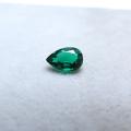 合成石エメラルド【AAA】(熱水法)・ルース(裸石)/ペアシェイプ【5×3mm】ファセットカット(1個)