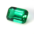 エメラルド 合成石 (熱水法) ルース /オクタゴンカット【6×4mm】1個