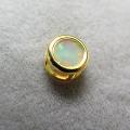 ゴールドフィルド・チャーム/天然石エチオピアンオパール(ラウンド4mm)ベゼル「14kgf」(1個)