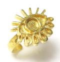 目の指輪 アイ eye リング ブラスリング 空枠 石枠 ラウンド5mm (真鍮ブラス・ゴールドカラー)1個