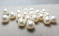 淡水パール真珠(ホワイト系)/片穴パール(ラウンド〜セミラウンド5mm)(5個)