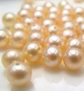 淡水パール真珠 片穴パール(ラウンド~セミラウンド6~6.5mm)ライトピンク(3個)