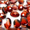 天然石ルース(裸石) ガーネット(モザンビーク)カボション ローズカット(オーバル)【6×4mm】(5個)