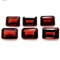ガーネット 天然石ルース レクタングルカット オクタゴン 【6×4mm】ファセットカット(7個)