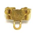 ブラスリング ゴールド 真鍮 指輪 3本爪 空枠 皿 10mm ゴールドカラー(1個)