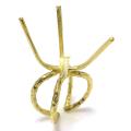ラフストーン・タンブル~カボション リング 指輪 空枠 4本爪 44×44mm 真鍮ブラス・ゴールドカラー(2個)