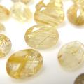 ゴールデンルチルクオーツ ルース 天然石 オーバル ファセットカット 7×5mm (2個)