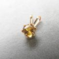 スタッドペンダントトップ「14kgf(ゴールドフィルド)」天然石シトリン<11月誕生石>4mm/6本爪(1個)