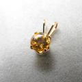 スタッドペンダントトップ「14kgf(ゴールドフィルド)」天然石シトリン<11月誕生石>5mm/4本爪(1個)