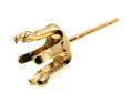 ピアス空枠・6本爪ポストピアス(ラウンド6mm)「14kgf(ゴールドフィルド)」(1ペア/2個)