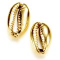 カウリシェル ゴールド メッキ 金色 貝殻 巻貝 【穴無し】アクセサリー(12〜20mm) 10個