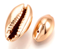 カウリシェル ローズゴールド メッキ ピンクゴールド 貝殻 巻貝ビーズ アクセサリー(12~20mm) 15個