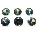 天然石ルース(裸石)グリーンサファイア(非加熱)セイロン・スリランカ/ラウンド【4mm】ダイヤモンドカット(1個)