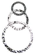 シルバーフィルドパーツ/シャンデリア(3リングモービル/テクスチャー)(2個)