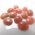 天然石ルース(裸石)・インカローズ(ロードクロサイト)/カボション(オーバル)【8×6mm】(5個)