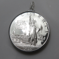 アメリカ自由の女神像銀貨 (1ドル)コインペンダント・バチカン付「シルバーSV925」