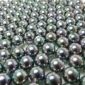国産・貝パール(貝ミガキパール)ブラックピーコック系/ビーズ(丸玉・片穴)9mm玉(100個)
