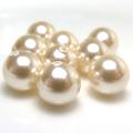 国産・貝パール(キスカ 普通塗り)ビーズ(丸玉・片穴)8mm玉(15個)