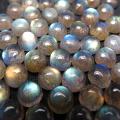 天然石ルース(裸石)ラブラドライト/ラウンド(4mm)カボションカット(15個)