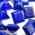 天然石ルース(裸石) ラピス(ラピスラズリ)スクエア 4mm ファセットカット(6個)