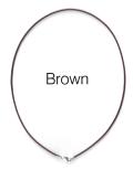 レザーネックレス40cm【ブラウン・1.5mm】(1本)