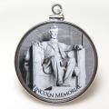 エイブラハム・リンカーン大統領 コイン ペンダント 第16代 アメリカ ハーフダラー(50セント) バチカン付「シルバーSV925」(1個)