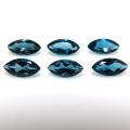 天然石ルース(裸石) ブルートパーズ(ロンドンブルー)マーキス【4×2mm】ファセットカット(2個)