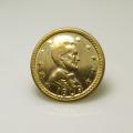 リンカーン コイン(アンティーク/ビンテージ調)(14mm)(真鍮ブラスカラー)(40個)
