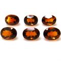 天然石ルース(裸石)マンダリンオレンジシトリン(ブラジル産・加熱)オーバル【7×5mm】ファセットカット(1個)